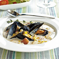 Corn, Clam, and Mussel Chowder