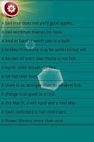Screenshot of Great-aunt Camunias' proverbs