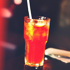 Sip of Blood by Sounak Mukherjee - Food & Drink Alcohol & Drinks ( hrc, red, icedtea, drink, cafe, rock, blood, mocktail, drinks )