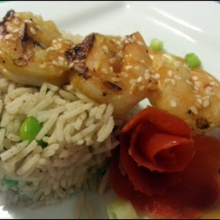 Grilled Shrimp with Thai Chili & Peanut Sauce