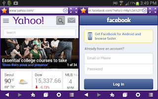 Screenshot of Purple Dual Browser Lite