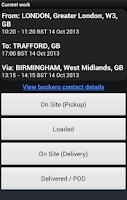 Screenshot of Courier Exchange