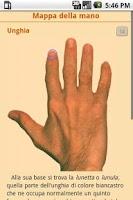 Screenshot of Lettura della mano