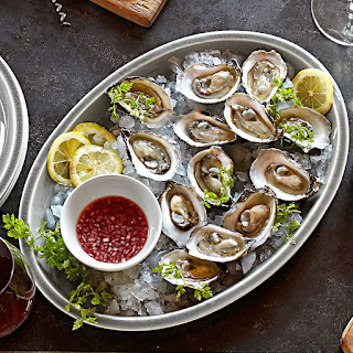 Oysters on the Half Shell with Tarragon Mignonette