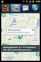 Screenshot of Gårdsbutiker