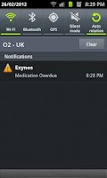 Screenshot of Exynos Medication Reminder