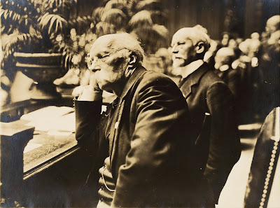 Henri La Fontaine and Ludwig Quidde Nobel (Peace Prize in 1927), Berlin, 1924