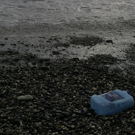 How we destroy the nature by Simona David - Novices Only Objects & Still Life ( water, non degradable garbage, plastic, dirty water, sea, pollution, stones, garbage,  )