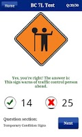 Screenshot of BC Driving Test - ICBC Exam
