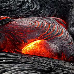 Hot Lava by Venetia Featherstone-Witty - Nature Up Close Rock & Stone ( kiluea, volcano, volcanic eruption, lava, hot laa, hawaii,  )