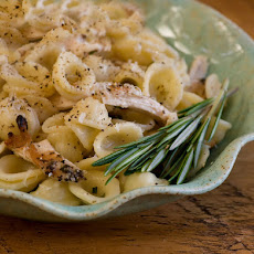 Pasta with Shredded Chicken and Rosemary