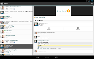 Screenshot of Hojoki - Project Management