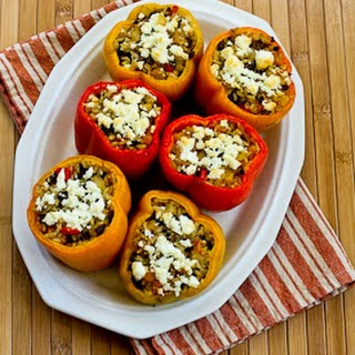 vegetarian stuffed peppers taste of home brown rice pasta sauce pepper ...