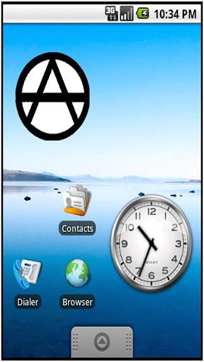 Anarchy Sign sticker widget