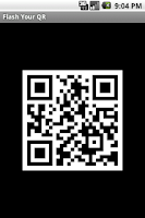 Screenshot of Flash Your QR