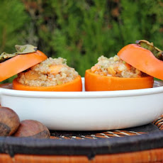 Oven Roasted Stuffed Persimmons (Vegan + Gluten Free)