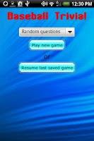 Screenshot of Baseball Trivia!