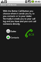 Screenshot of Better Call Button