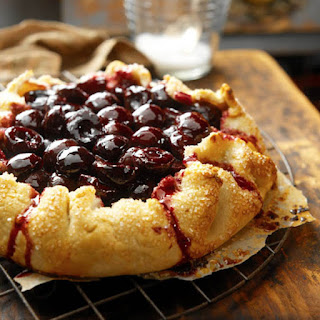 Sour Cherry-Sour Cream Crostata Pie