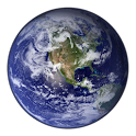 Planet Earth Clock Widget icon
