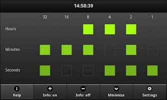 Screenshot of mBINclock