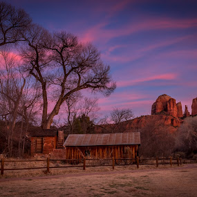 Sedona Sunset by Mandy Harvey - Landscapes Sunsets & Sunrises ( holiday, vacation, arizona, red rock, landscape, sedona, usa )