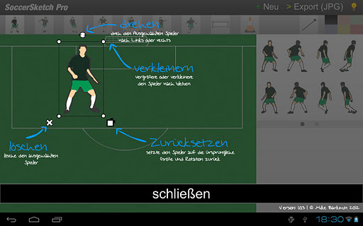 Screenshot #3 of SoccerSketch / Android