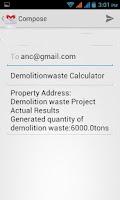 Screenshot of Demolition Waste Calculator