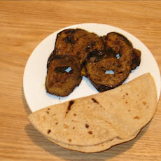 Spicy Eggplant Slices With Variation (Indian)