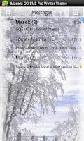 Screenshot of GO SMS Pro Winter Theme