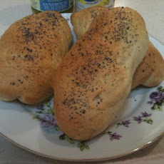 Pammy's Hoagie's (Dough Made in Bread Machine)