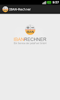 Screenshot of IBAN-Rechner