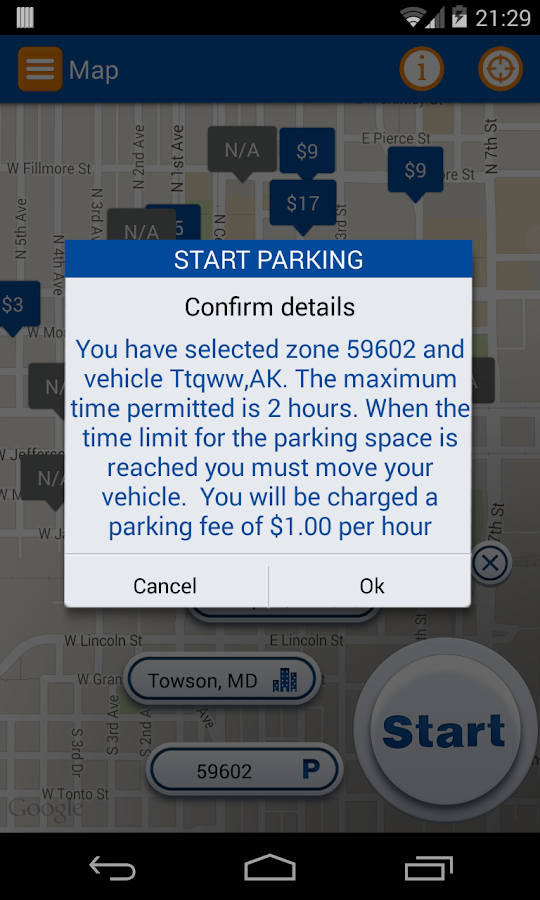 Pango Mobile Parking Screenshot 1