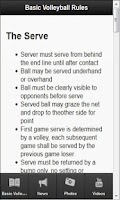 Screenshot of Volleyball Rules