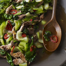 Duck Stir-fry With Ginger & Greens