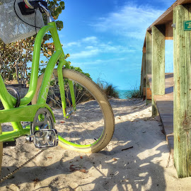 Bike at the beach by Michael Davis - Transportation Bicycles ( naples, bike, florida, gulf of mexico, beach )