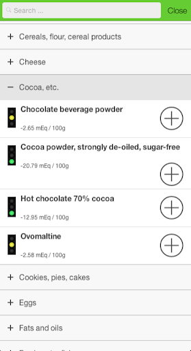 Acid base calculator - screenshot