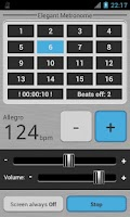 Screenshot of Elegant Metronome