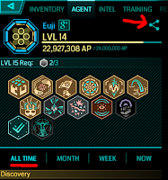 Screenshot of Ingress stats