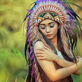 ♦ Enhy ♦ by Septyadhi  Gunawan - People Portraits of Women ( canon, model, girl, indian, beauty )