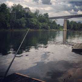 Sittin on the banks of the Cumberland. Me 1, Nelson 0 ! by Lana Owens - Instagram & Mobile iPhone