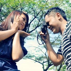 cisss by Fora Ginanjar Katamsi - People Couples ( pose, shoot, prewedding, couple, smile, people )