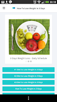 Screenshot of How To Lose Weight in 3 Days