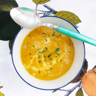Scottish Carrot and Leek Soup with Mustard Seeds