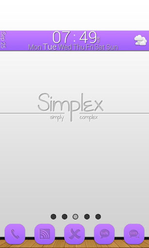 GLX Themes: Simplex Purple