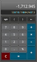 Screenshot of ClickCalc Calculator