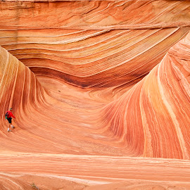 Walking through the Wave by Alex Cassels - Landscapes Caves & Formations ( geology, coyote buttes, the wave, nature, arizona, vermillion cliffs national monument, rock formation, landscape, alex cassels, united states )