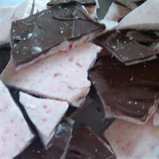 Chocolate-Dipped Peppermint Bark
