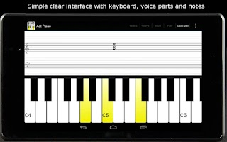 Screenshot of Act Piano :notation midi score
