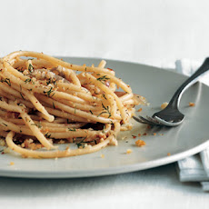 Pasta with Spicy Anchovy Sauce and Dill Bread Crumbs